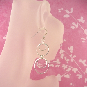 Ad Infinitum sterling silver earrings